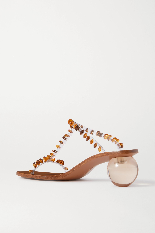 Cult Gaia Clio 珠饰 PVC 穆勒鞋