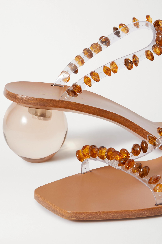 Cult Gaia Clio bead-embellished PVC mules