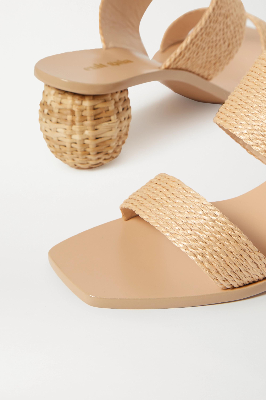 Cult Gaia Jila woven raffia sandals