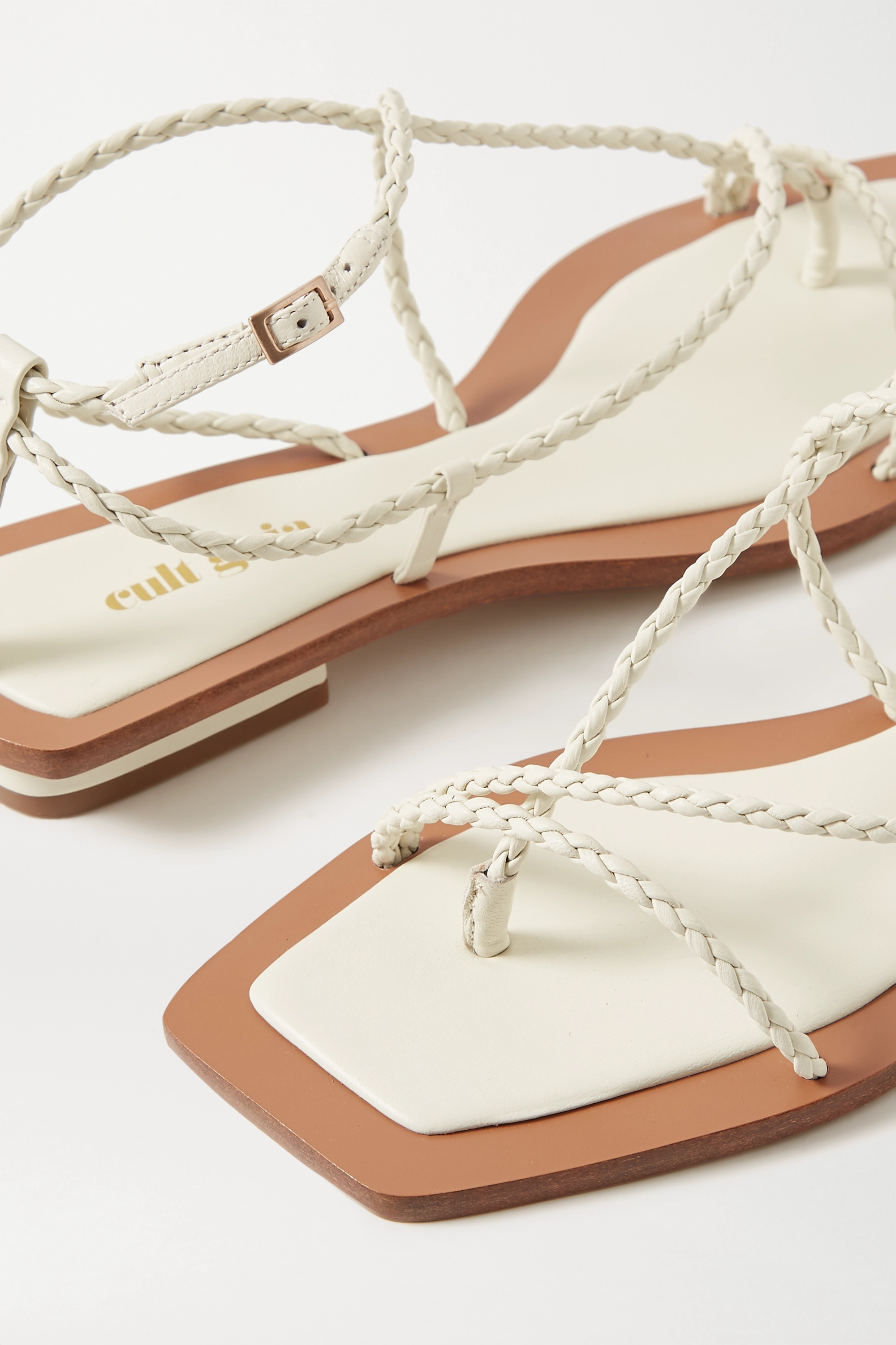 Cult Gaia Juno braided leather sandals
