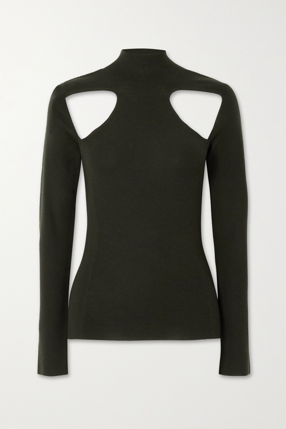 Dion Lee Cutout merino wool turtleneck sweater