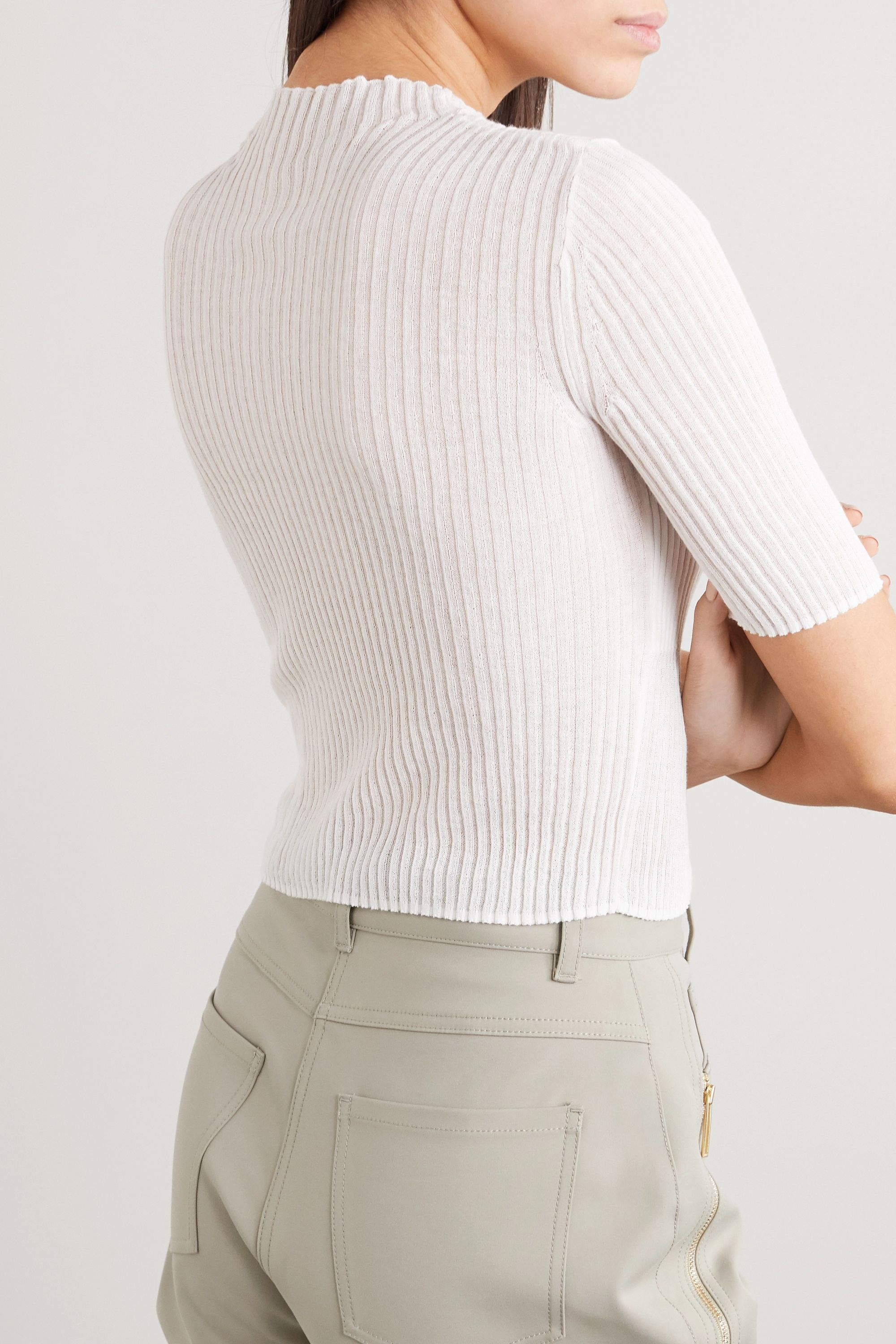 Dion Lee Ribbed cotton-blend sweater