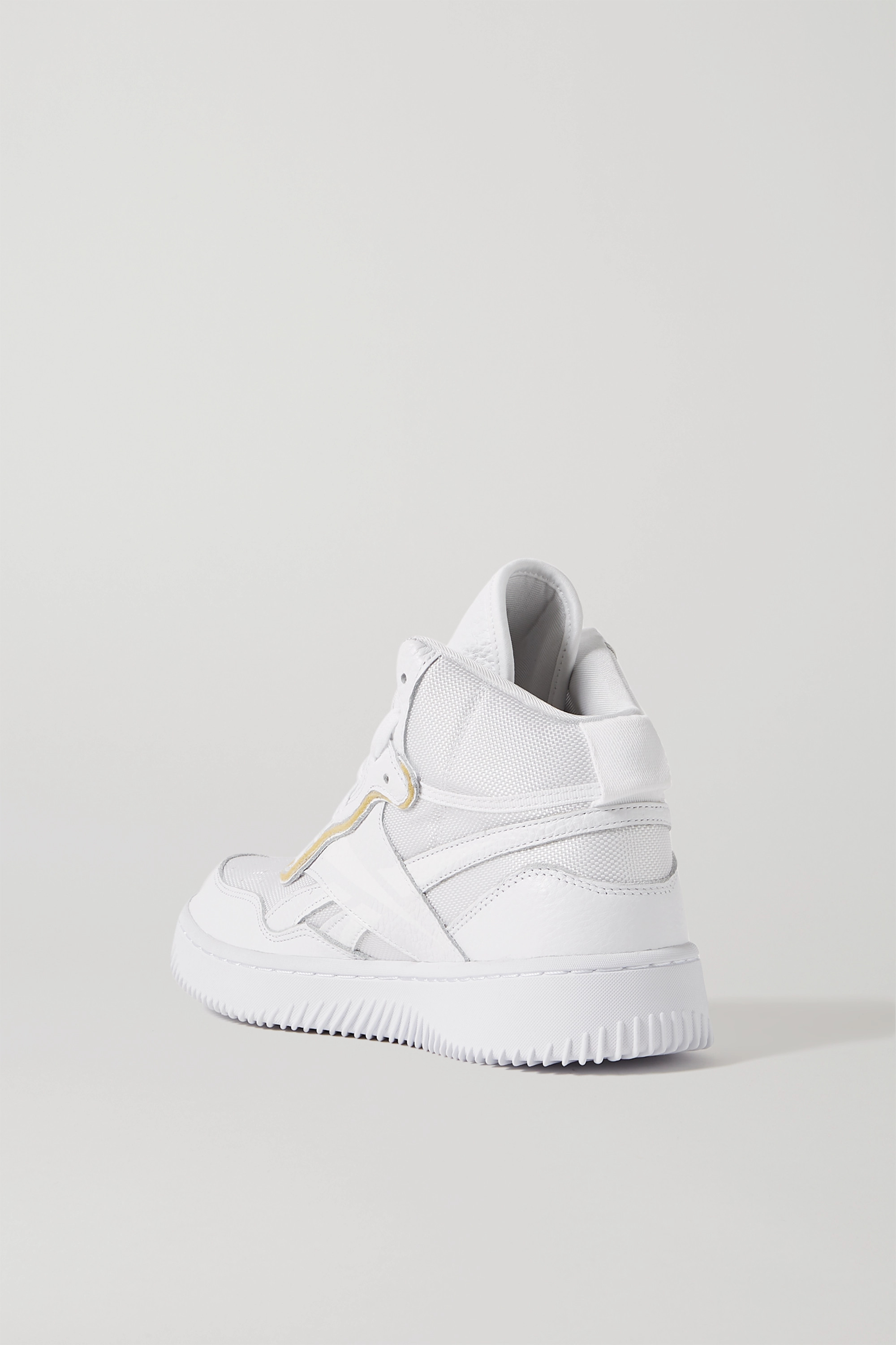 Reebok X Victoria Beckham Dual Court mesh and textured-leather sneakers