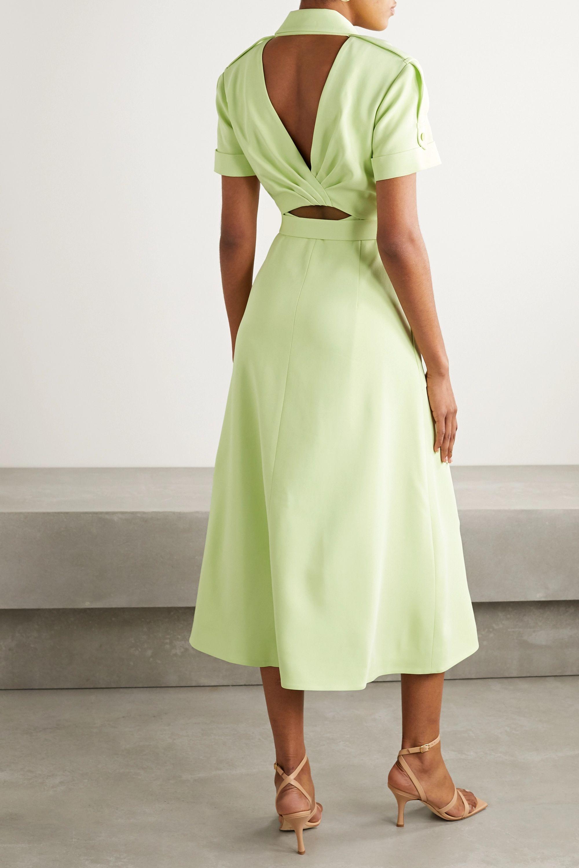 Jonathan Simkhai Helena belted cutout crepe midi dress