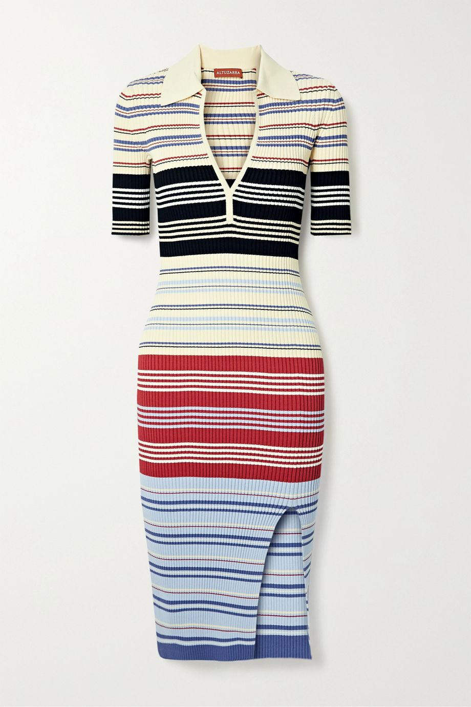 Altuzarra Barkers striped ribbed-knit dress