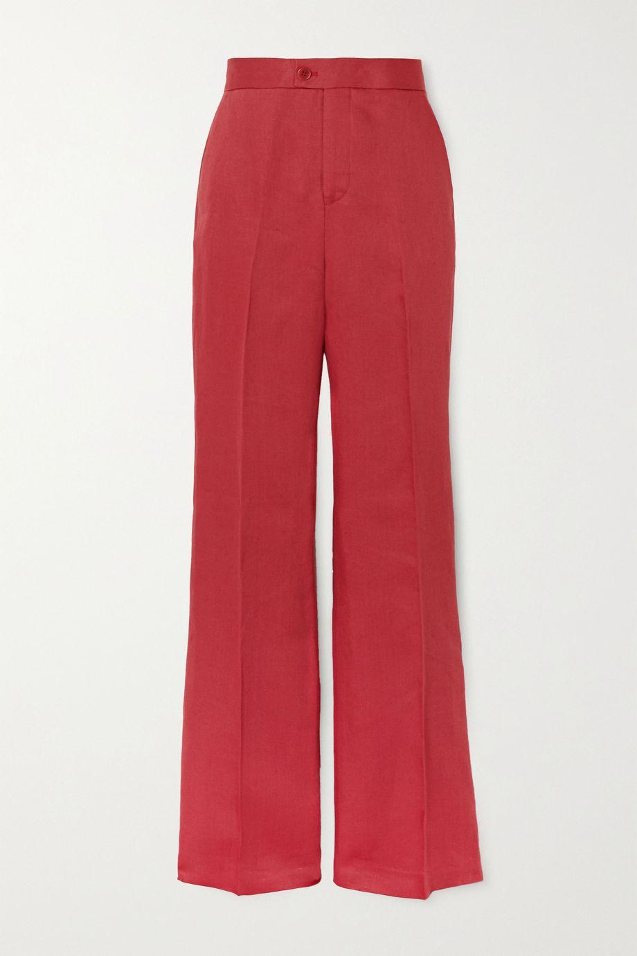 Altuzarra Higbie linen straight-leg pants