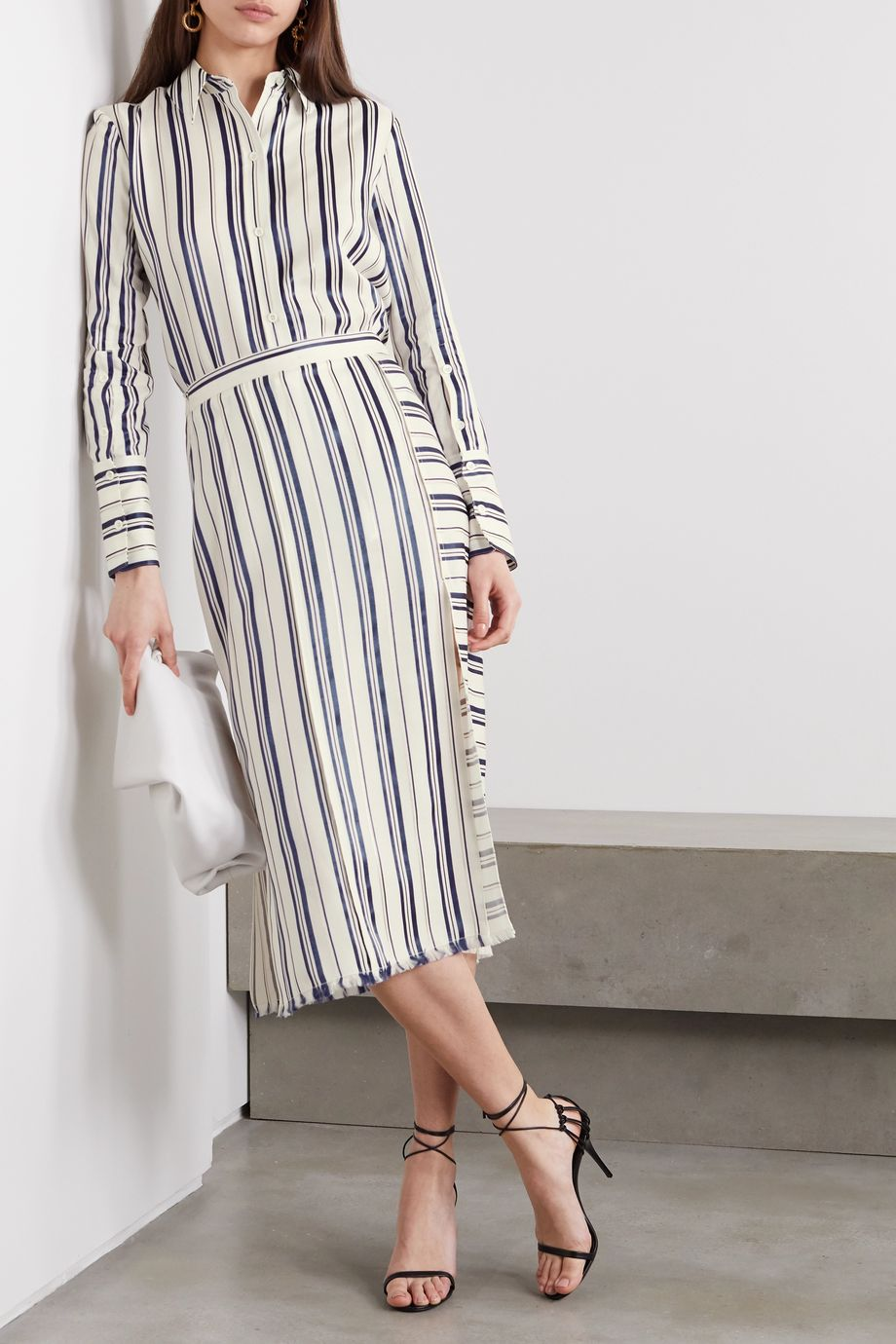 Altuzarra Giselda striped Lyocell-blend shirt
