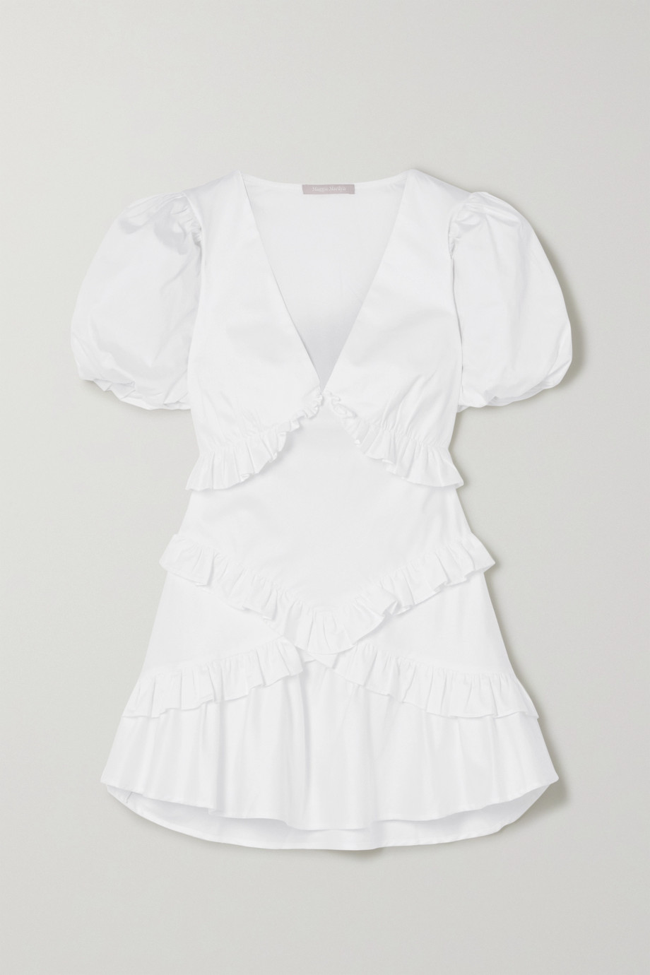 Maggie Marilyn The Jones 2.0 ruffled cotton-poplin mini dress