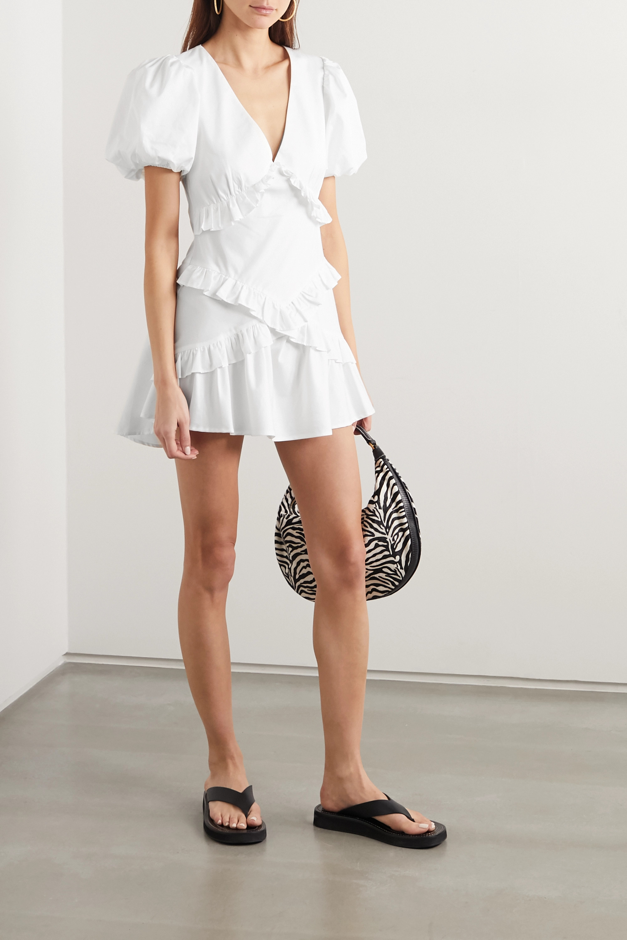 Maggie Marilyn The Jones 2.0 ruffled cotton-poplin mini dress