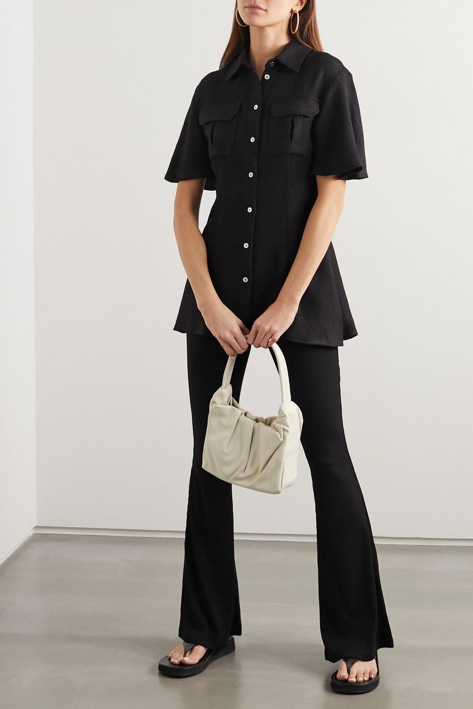 Maggie Marilyn Lead The Charge brushed cotton-blend tweed shirt