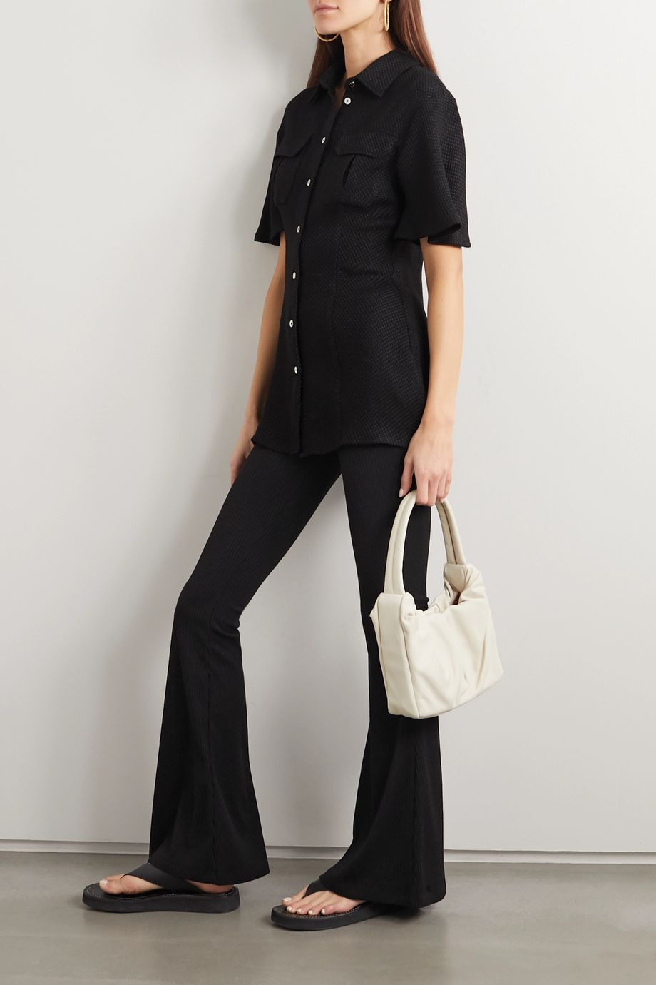 Maggie Marilyn Lead With Love stretch-jersey flared pants