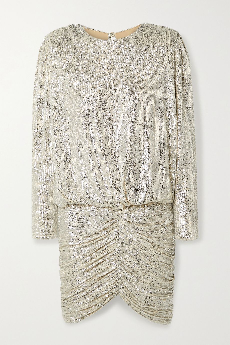 Retrofête Flynn ruched sequined tulle mini dress