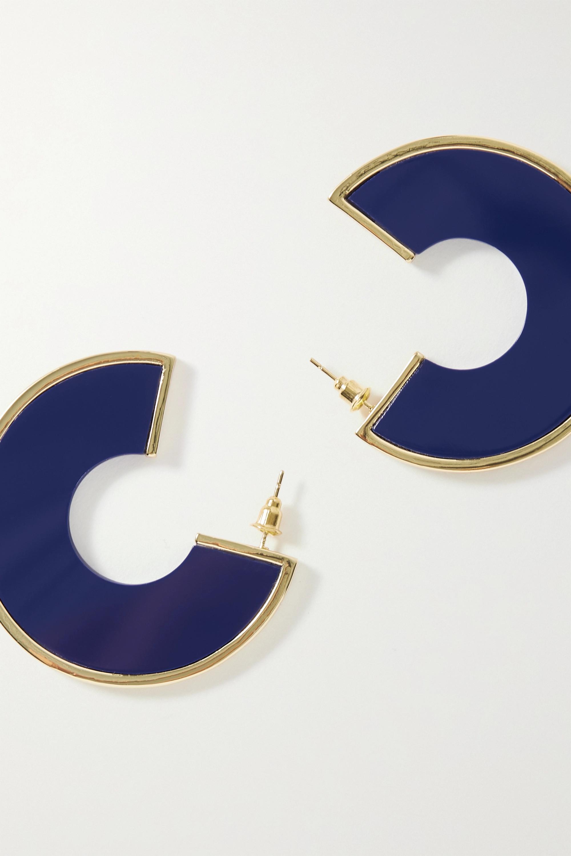 Cult Gaia Aria 树脂金色耳环