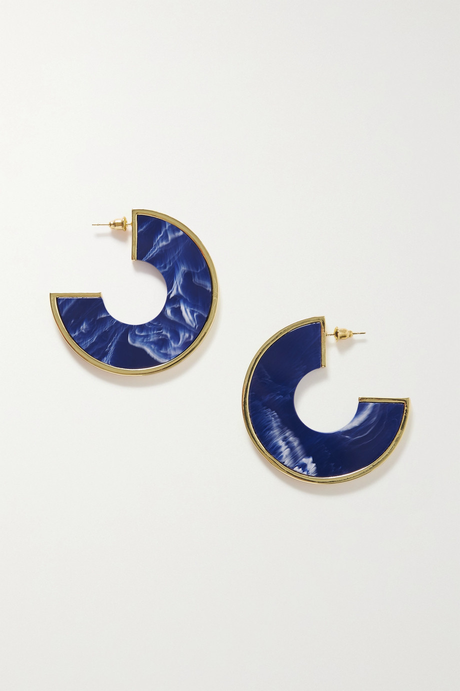 Cult Gaia Aria gold-tone resin earrings