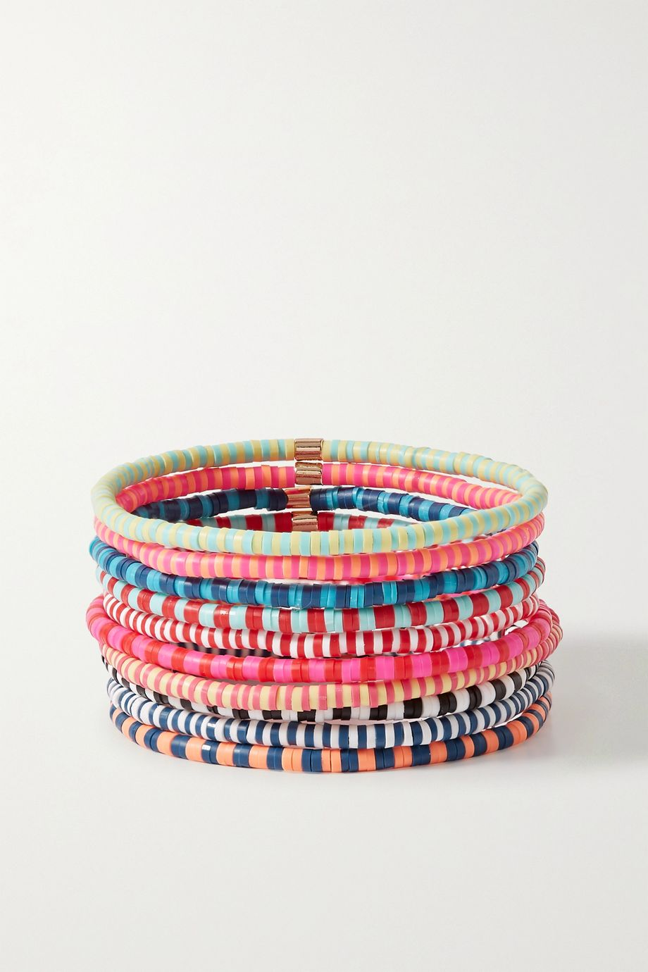 Roxanne Assoulin Happy Stripes set of ten beaded bracelets