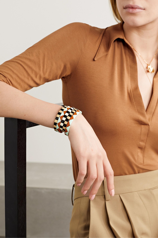 Roxanne Assoulin Terrazzo set of five enamel and gold-plated bracelets