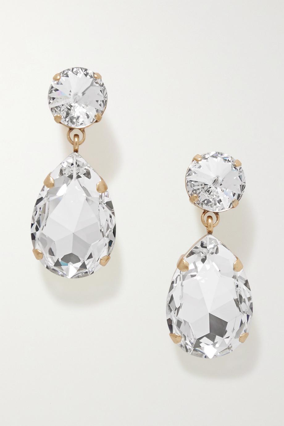 록산느 애슐린 귀걸이 Roxanne Assoulin Hip-Hop But Not gold-tone Swarovski crystal clip earrings,Gold