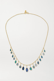 18-karat gold opal necklace