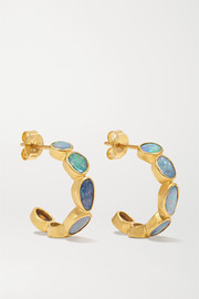 18-karat gold opal earrings