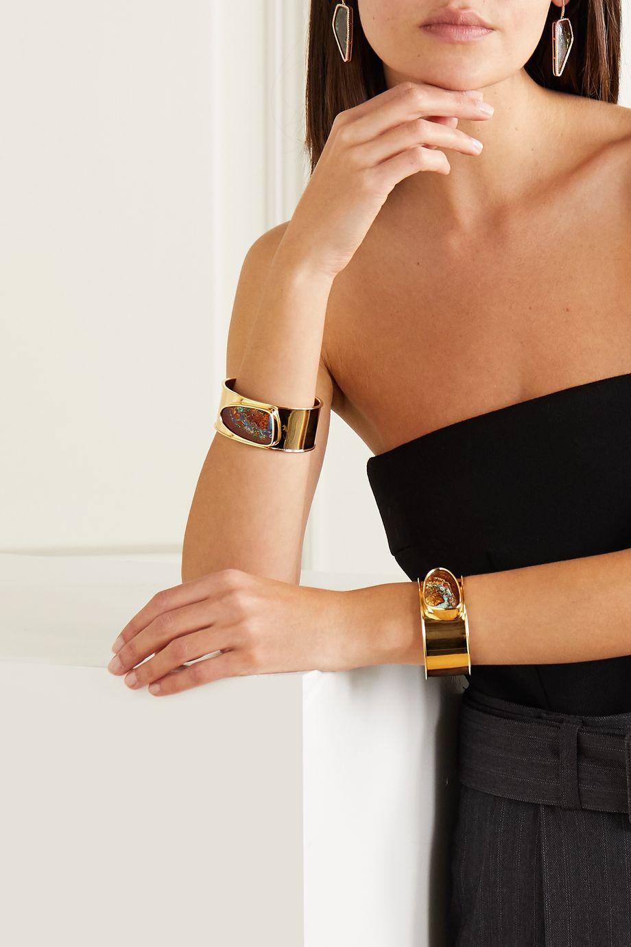 Kimberly McDonald Set aus zwei Armspangen aus 18 Karat Gold mit Opalen