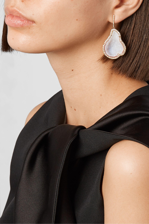 Kimberly McDonald 18-karat rose gold, geode and diamond earrings