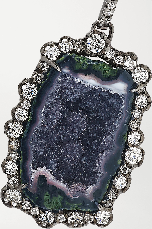 Kimberly McDonald Ohrringe aus geschwärztem 18Karat Weißgold mit Geoden und Diamanten