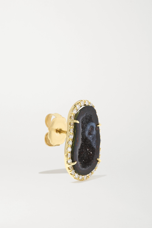 boucle d'oreille en or 18 carats