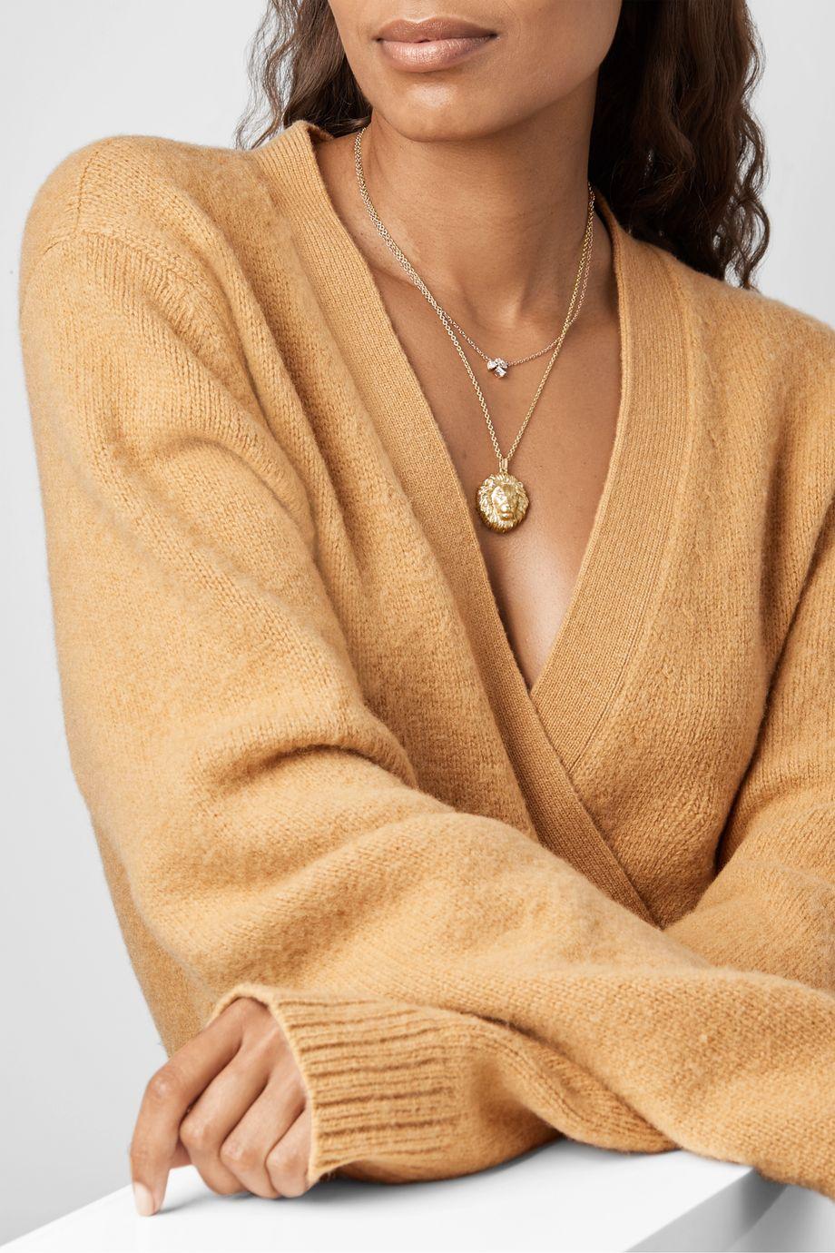 Kimberly McDonald 18-karat green gold diamond necklace