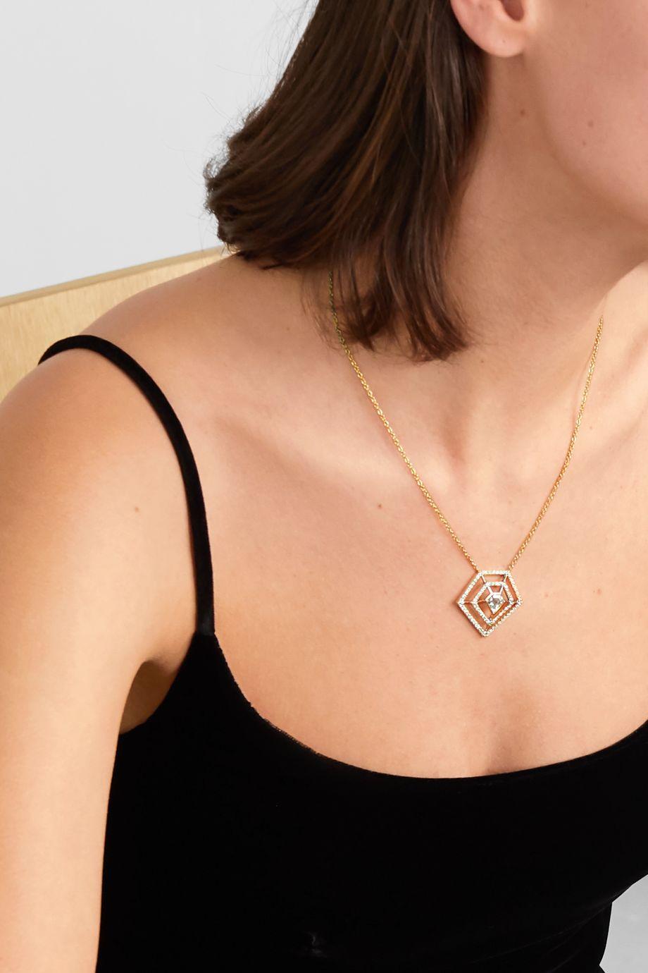 Kimberly McDonald Kette aus 18 Karat Gold mit Diamanten