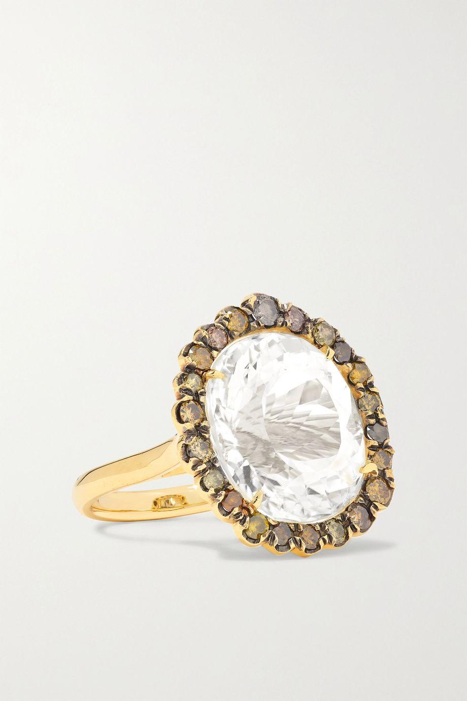 Kimberly McDonald 18-karat gold, spodumene and diamond ring
