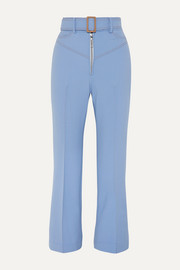Supervision Free belted cropped flared pants