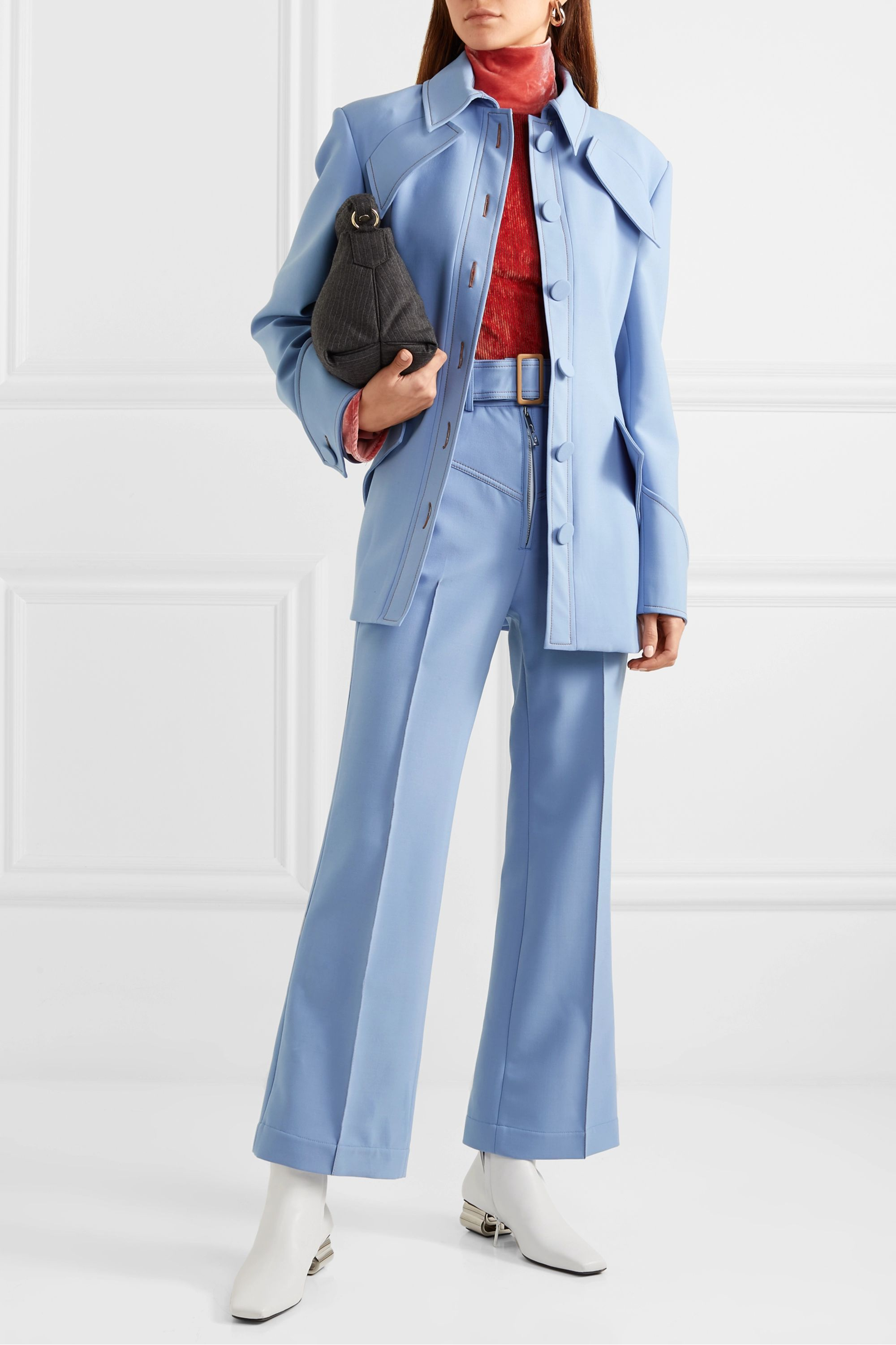 Ellery Supervision Free belted cropped flared pants