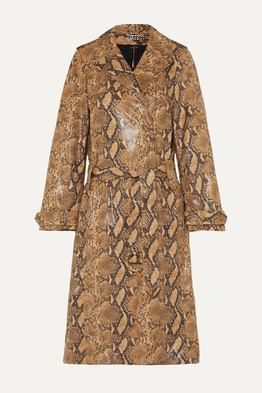 Ellery Spectrum snake-effect faux leather trench coat