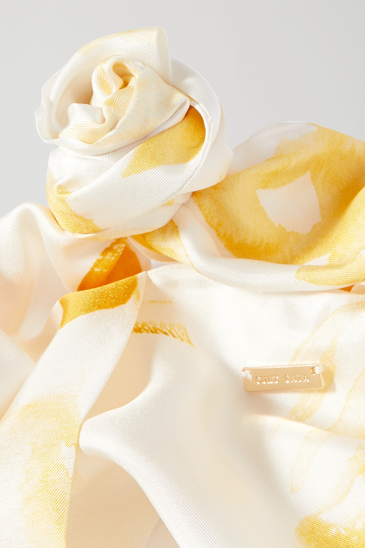 Cult Gaia Turband knotted printed silk-twill headband