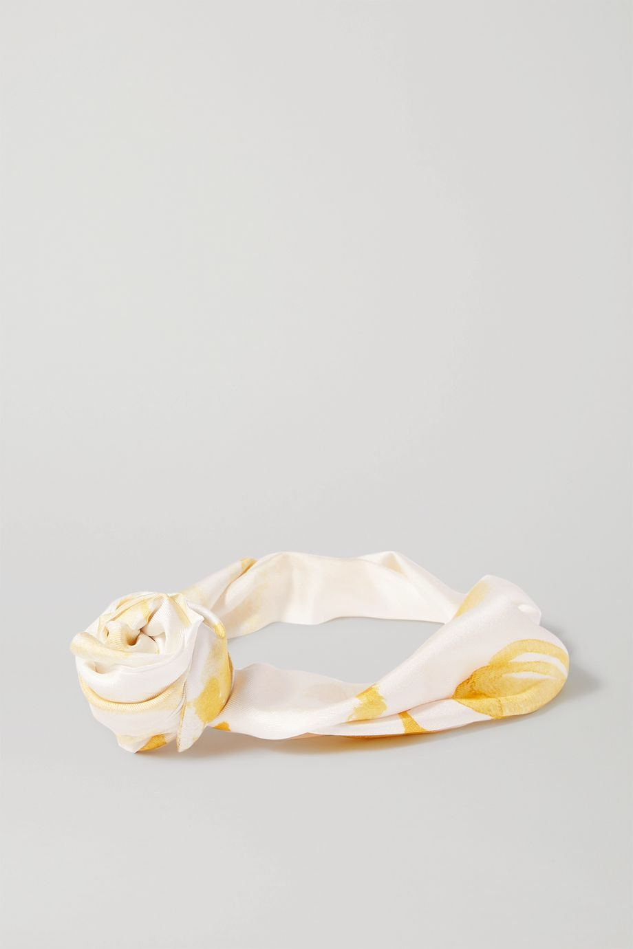 Cult Gaia Turband knotted printed silk-twill headband