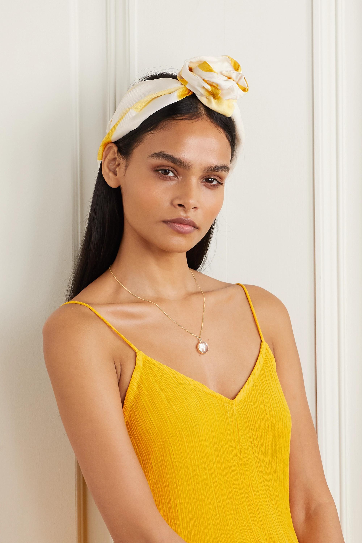 Turband knotted printed silk-twill headband (£34)