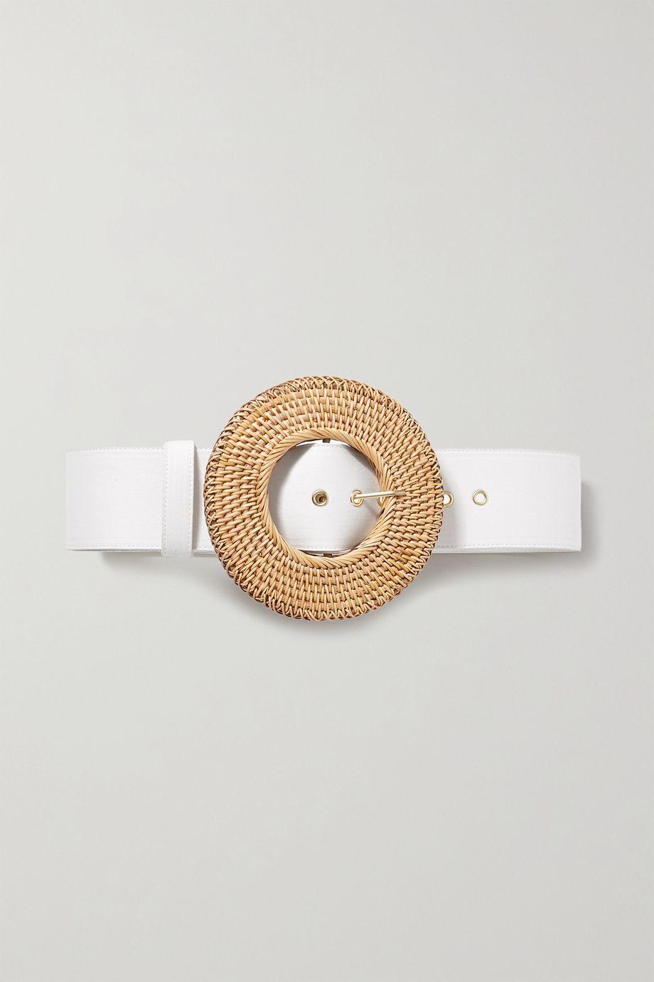 Cult Gaia Gemma oversized canvas and rattan waist belt