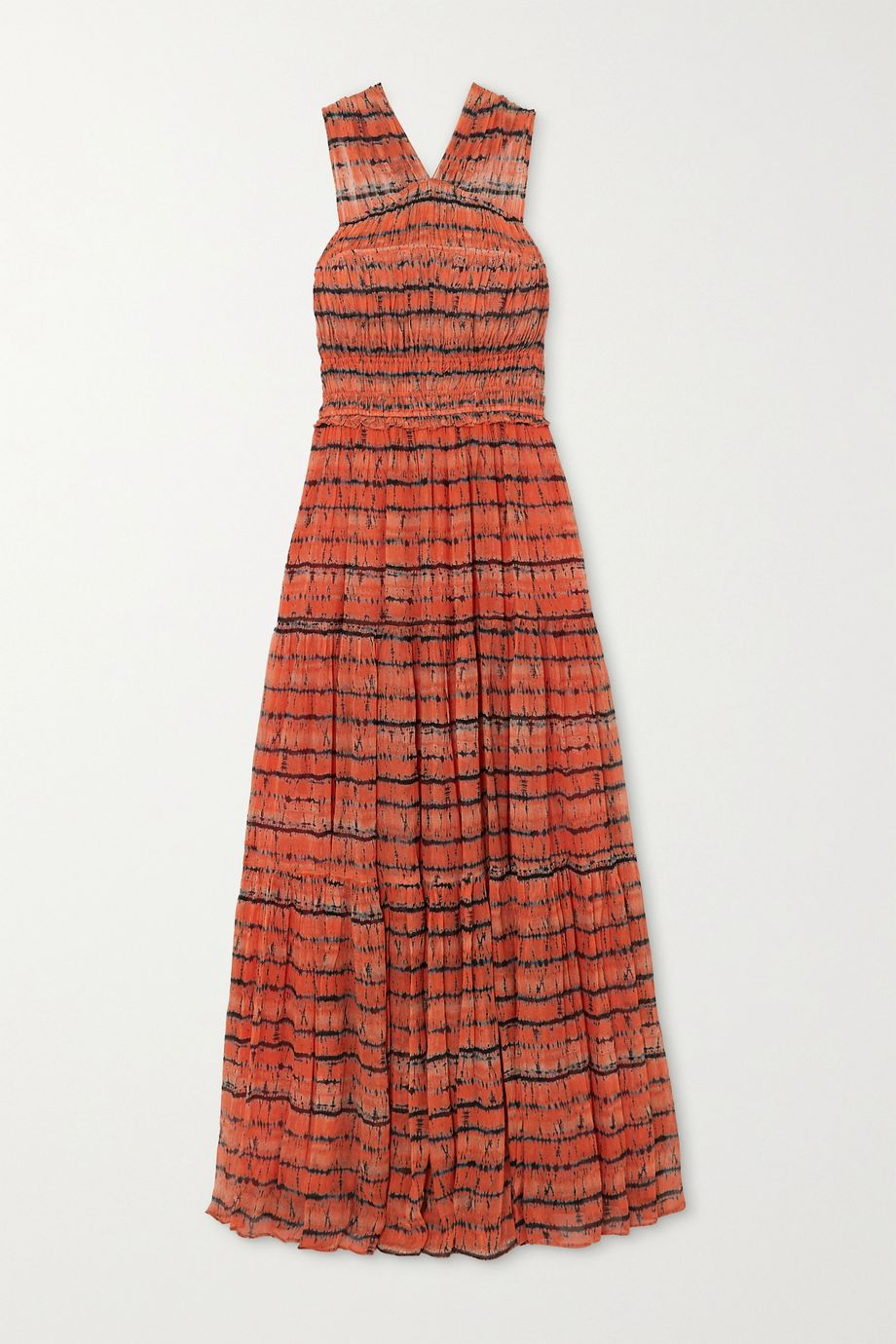 Ulla Johnson Freesia open-back tie-dyed silk-georgette maxi dress