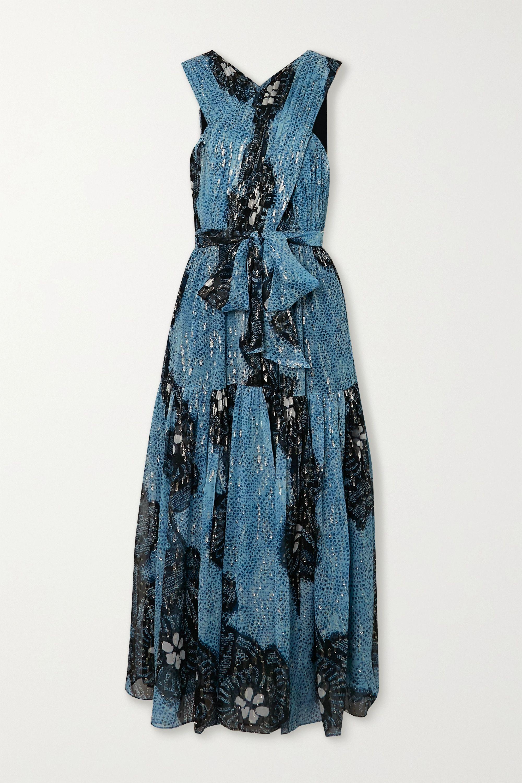 Ulla Johnson Adora printed fil coupé silk-chiffon midi dress