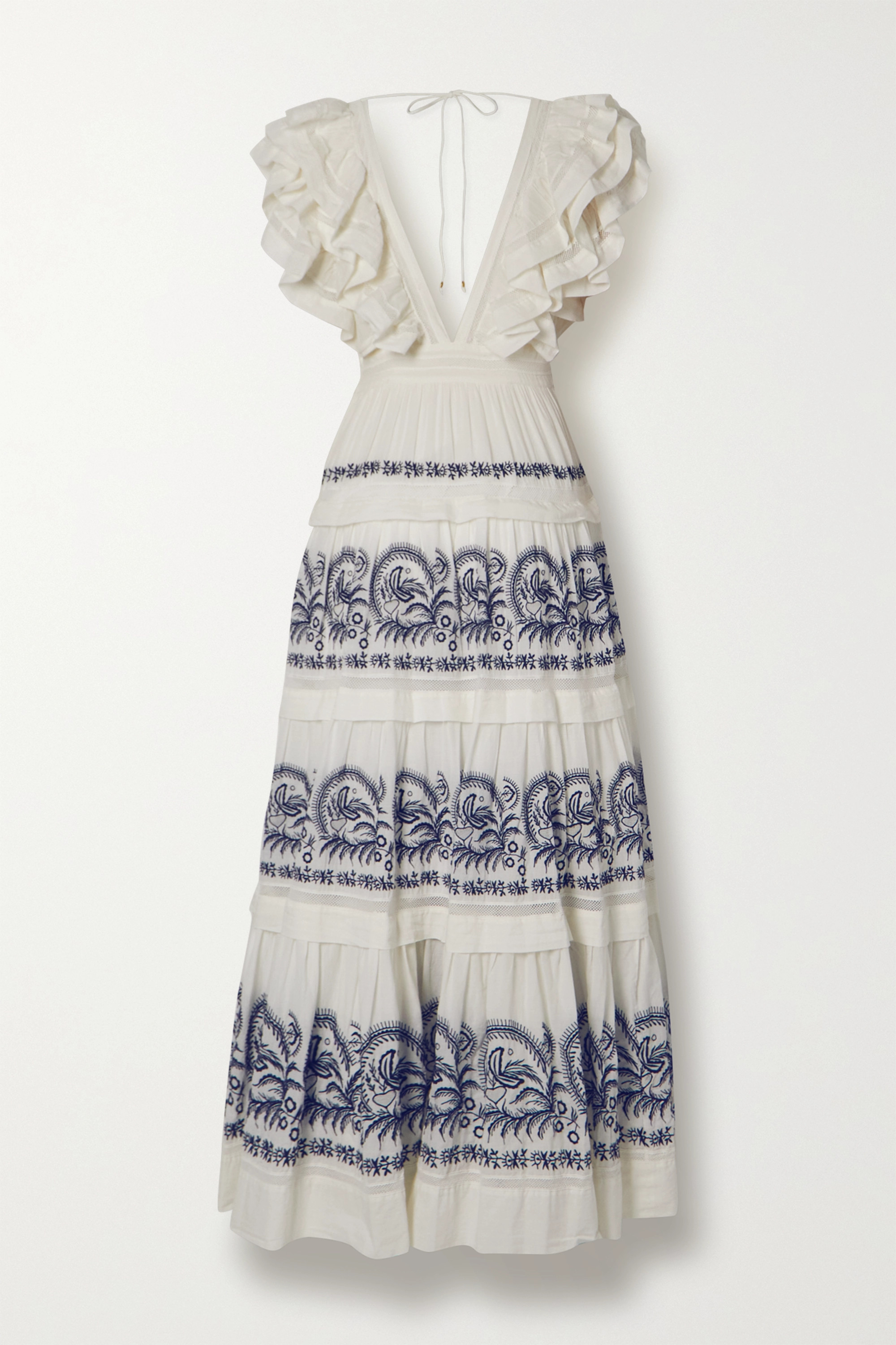Ulla Johnson Majorie tiered ruffled embroidered cotton-gauze maxi dress