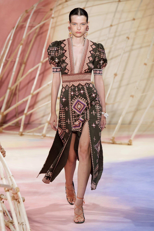 Ulla Johnson Amaria beaded embroidered cotton and linen-blend twill midi dress