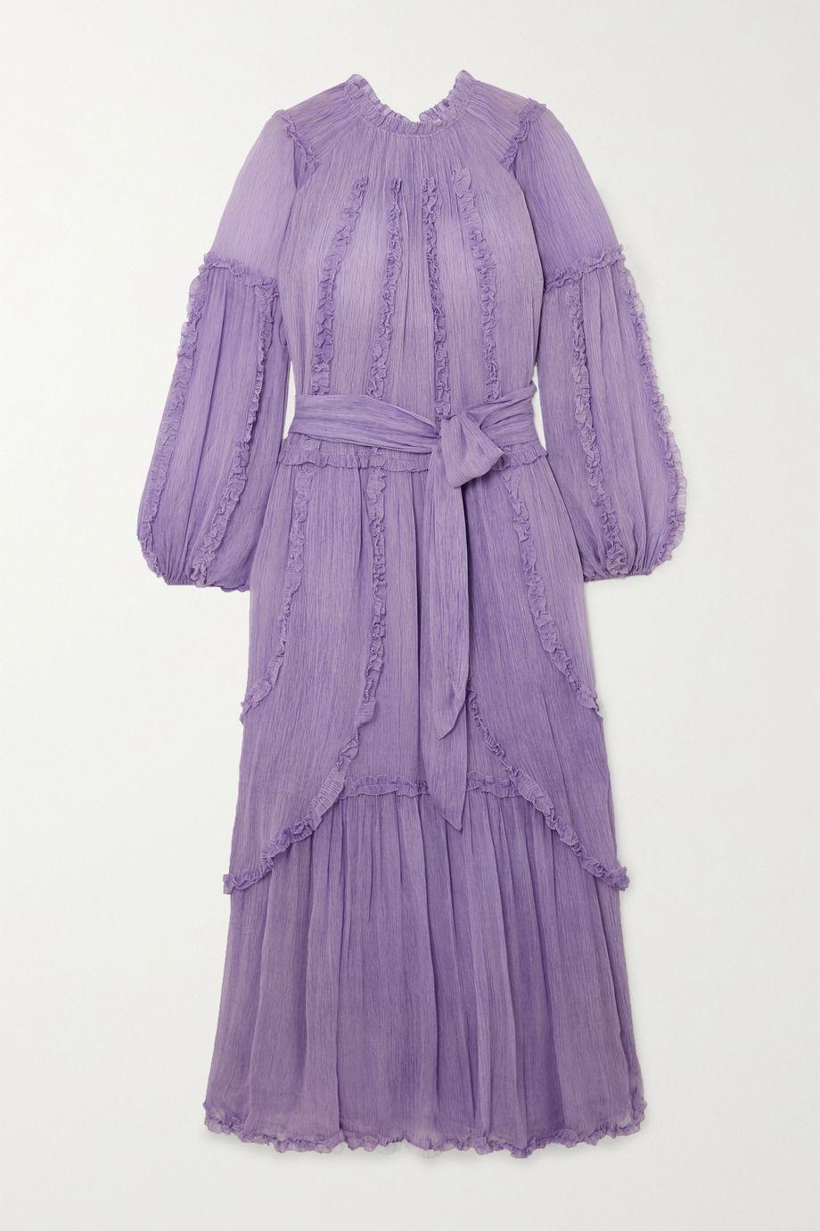 Ulla Johnson Sabina ruffled crinkled silk-georgette maxi dress