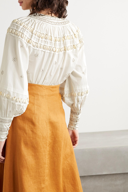 Ulla Johnson Tana embellished cotton-poplin blouse