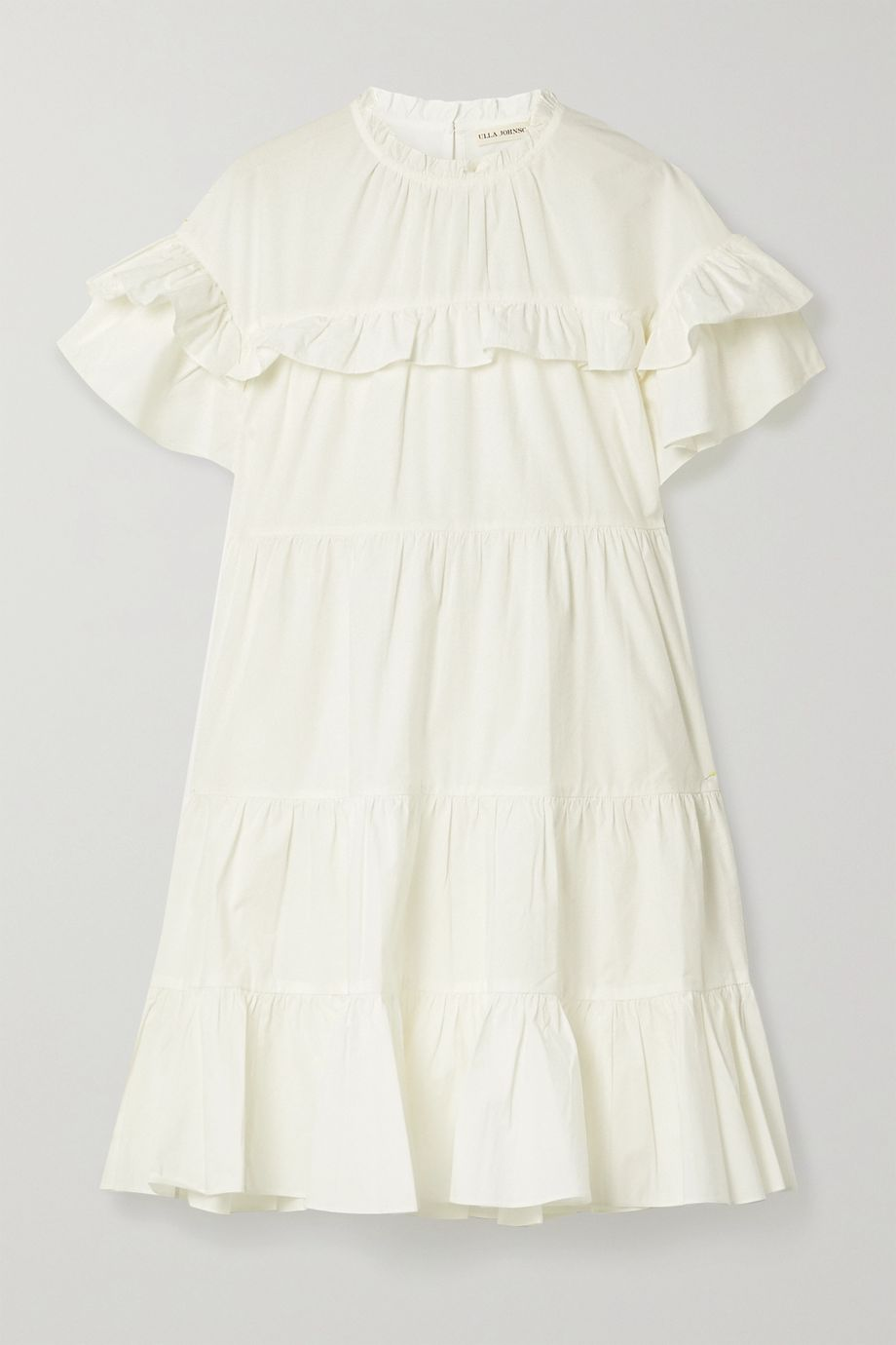 Ulla Johnson Leonie ruffled cotton-poplin mini dress