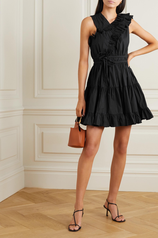 Ulla Johnson Iliana tiered ruffled cotton-poplin mini dress
