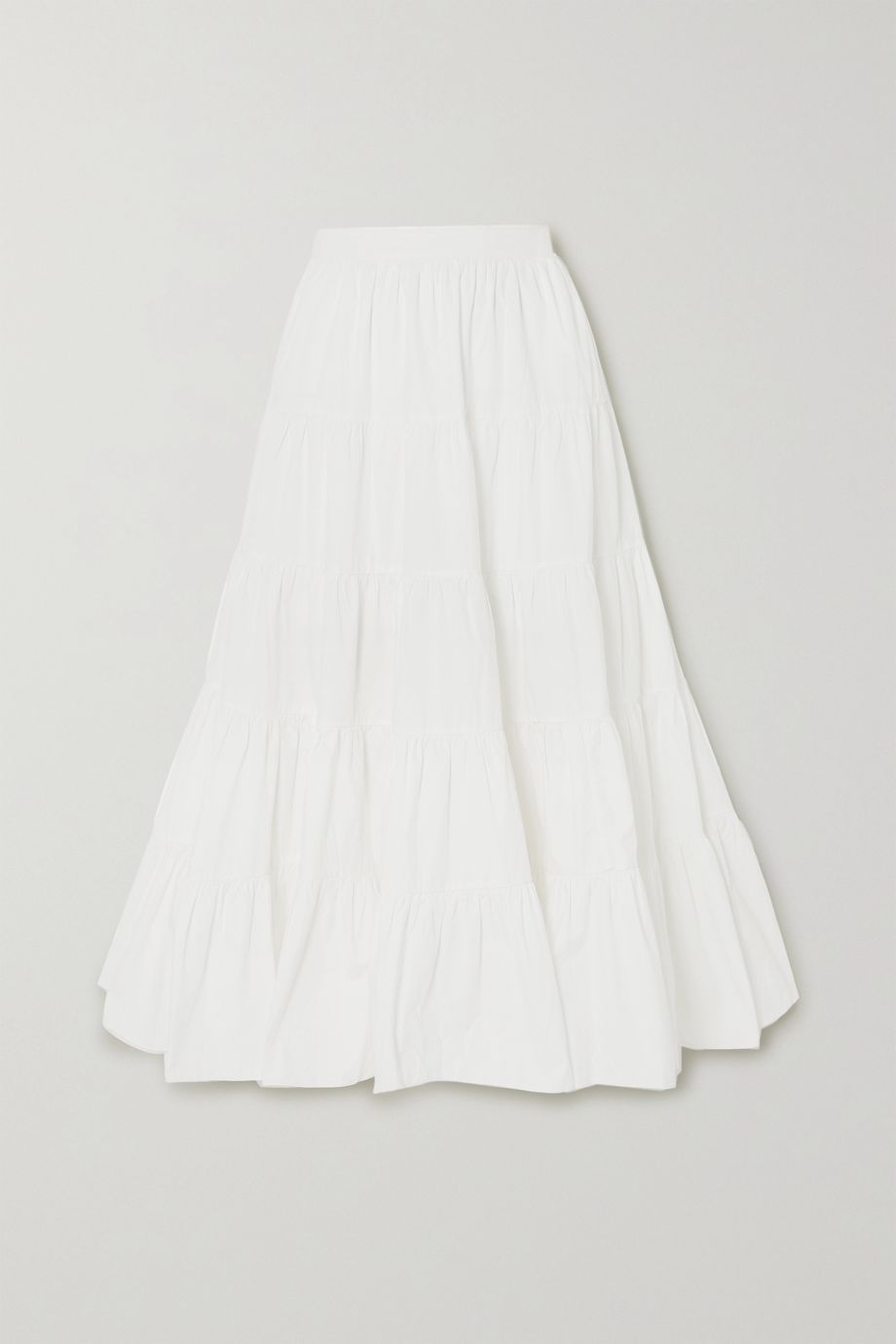 Ulla Johnson Sylvie tiered cotton-poplin maxi skirt