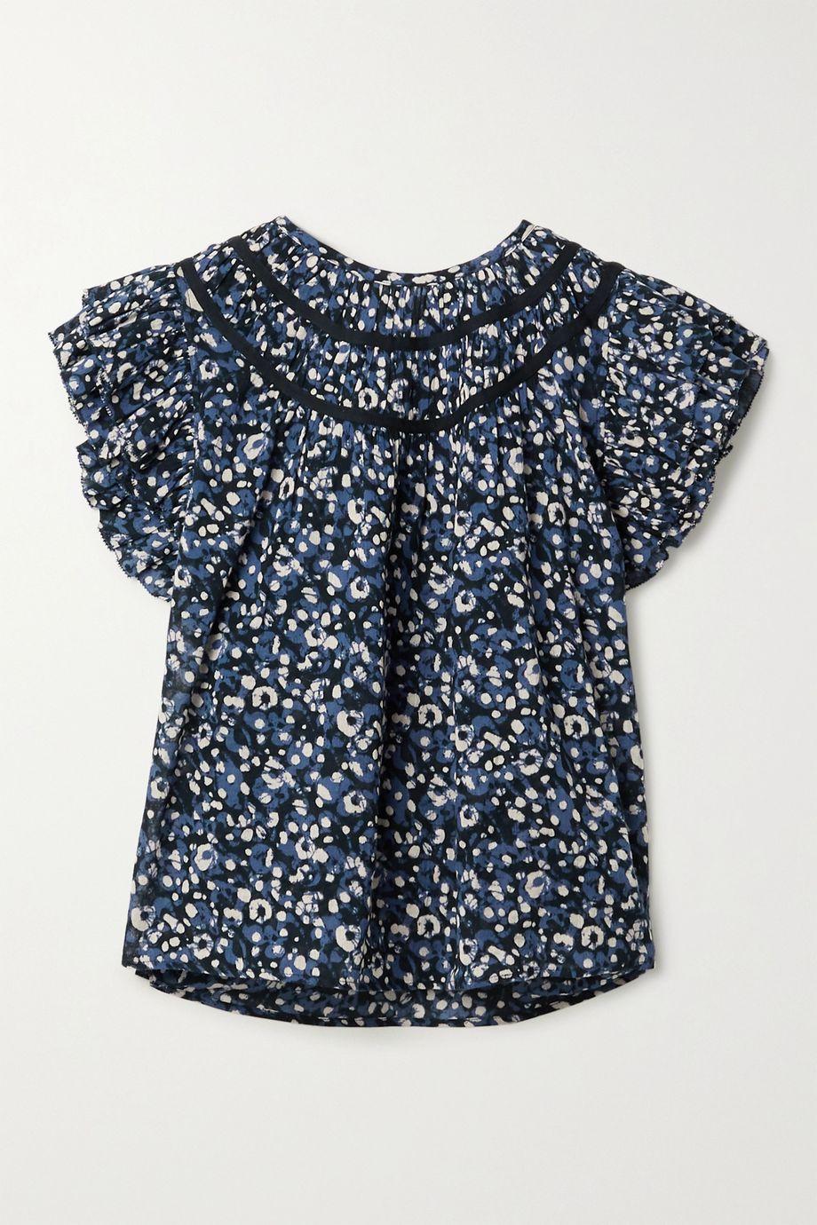 Ulla Johnson Amai ruffled printed cotton-voile top