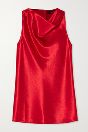 Louma draped hammered-satin top