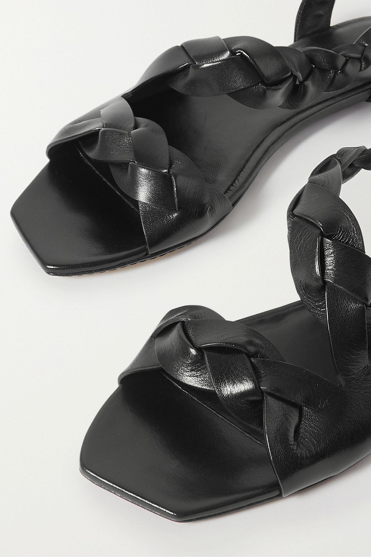 Khaite 麻花编织皮革凉鞋