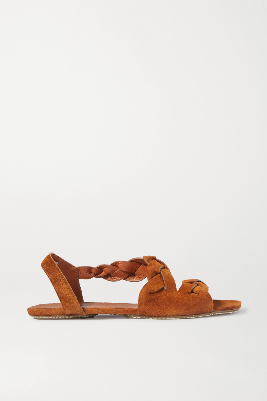 Khaite Braided suede sandals